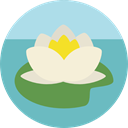 nature, oriental, sports, Yoga, lotus, meditation, Chakra, hinduism MediumAquamarine icon