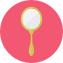 Beauty, fashion, Grooming, Beauty Salon, Hand Mirror Salmon icon