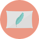 buildings, pillow, relax, Comfortable, Adornment, Furniture And Household DarkSalmon icon