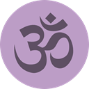 Om, religion, Belief, hinduism, faith, Cultures Silver icon