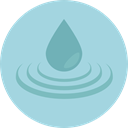 miscellaneous, weather, Rain, drop, water, Teardrop, raindrop LightBlue icon