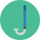 sea, sports, Diving, Summertime, Dive, Snorkel, Sports And Competition CadetBlue icon