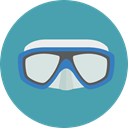 Goggles, Summertime, Dive, Sports And Competition, sea, sports, swimming, Diving CadetBlue icon