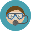 Avatar, job, Diver, profession, Occupation, Sports And Competition, Man, people, user CadetBlue icon