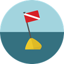 miscellaneous, Floating, Beach, Buoy LightBlue icon
