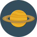 planet, science, education, saturn, Astronomy, solar system DarkSlateGray icon