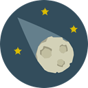 education, Asteroid, space, Astronomy, meteor, comet DarkSlateGray icon
