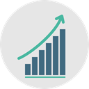 Business, Stats, statistics, graphic, Bar chart, Profits, Business And Finance, Seo And Web, graph Gainsboro icon