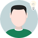 Idea, user, medical, head, education, Avatar, Thinking, Brain, Seo And Web LightGray icon