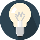 Light bulb, Idea, electricity, illumination, technology, electronics, invention DarkSlateGray icon