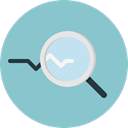 search, magnifying glass, zoom, detective, Loupe, Tools And Utensils, Seo And Web SkyBlue icon