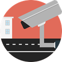 security, technology, cctv, security camera, surveillance IndianRed icon