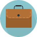 Business, Briefcase, Bag, suitcase, travel, portfolio SkyBlue icon