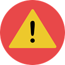 warning, Signaling, Attention, Error, notice, signs Tomato icon