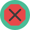 forbidden, prohibition, signs, Signaling, Close, cancel, Error, cross CadetBlue icon