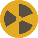 Energy, Alert, power, nuclear, industry, Radioactive, radiation, signs, Signaling Goldenrod icon