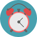 Clock, time, timer, alarm clock, Tools And Utensils, Time And Date CadetBlue icon