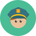 Professions And Jobs, job, Policeman, profession, Occupation, Man, people, user, Avatar CadetBlue icon