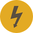 lightning, weather, electricity, Flash, Bolt, electrical, technology, thunder, Signaling Goldenrod icon