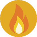 miscellaneous, fire, Element, Flame, nature, Burning, danger Goldenrod icon