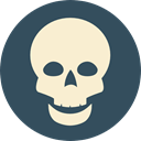 medical, Dead, skull, poison, dangerous, signs, Poisonous, Healthcare And Medical DarkSlateGray icon