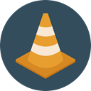 post, security, cone, traffic cone, urban, Bollards, Construction And Tools DarkSlateGray icon