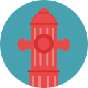 Protection, water, buildings, firefighter, fire hydrant, Architecture And City CadetBlue icon