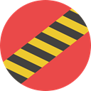 Caution, Construction, Barrier, Obstacle, Construction And Tools Tomato icon