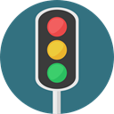 stop, light, Business, Traffic light, Road sign, buildings, Signaling, Stop Signal SeaGreen icon