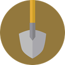 Construction, gardening, shovel, Tools And Utensils, Home Repair, Improvement, Construction And Tools Sienna icon