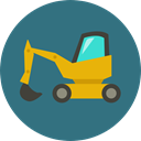 transportation, transport, Construction, Excavator, Bulldozer, Construction And Tools SeaGreen icon