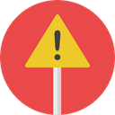 warning, Attention, Error, notice, signs, Signaling Tomato icon