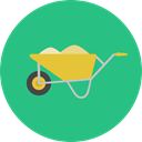Wheelbarrow, gardening, Tools And Utensils, Cart, trolley, Construction, Construction And Tools, Farming And Gardening MediumSeaGreen icon
