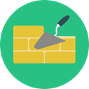 Brick, Bricks, wall, Construction, buildings, Home Repair, Improvement, Architecture And City, Construction And Tools MediumSeaGreen icon