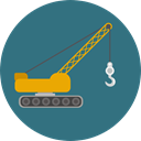 transportation, truck, transport, mechanic, Crane, garage, Trucks, Cranes, Construction And Tools SeaGreen icon