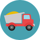 transportation, truck, transport, vehicle, Construction, Cargo Truck, Trucks, Construction And Tools CadetBlue icon