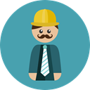Professions And Jobs, worker, Engineer, profession, Occupation, Man, people, Avatar, job CadetBlue icon