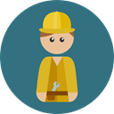 Man, people, job, Professions And Jobs, worker, Builder, profession, Occupation SeaGreen icon