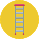 Pathway, Construction And Tools, Stairs, Ladder, staircase, Ladders Goldenrod icon