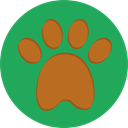 Footprint, Paw, pet, Animals, Pawprint SeaGreen icon