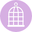 Cages, pet, Animals, Pets, birds, Cage Plum icon