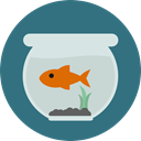 pet, Animals, Sea Life, Fish Bowl SeaGreen icon