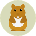 hamster, Animals, rodent, wildlife, Animal Kingdom LightGray icon