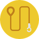 pet, Animals, leash, Walking The Dog Goldenrod icon