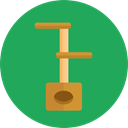 Playground, platform, Pet Shop, Cats, Animals SeaGreen icon