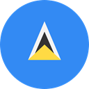 Nation, St Lucia, world, flag, flags, Country DodgerBlue icon