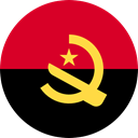 Angola, flags, Country, Nation, world, flag Crimson icon