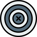 Aim, Target, sports, shooting, sniper, weapons, Dart Board, Sports And Competition Lavender icon