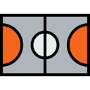 Game, sports, Playground, Sportive, Basketball Court, Sports And Competition Silver icon