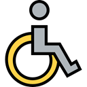 Access, Tools And Utensils, hospital, disability, handicap, wheelchair, medical, Disabled Black icon